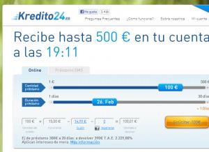 El crédito exprés de internet   100  online